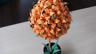 3d Origami - Flower Ball - Lily - Iris - (how To Make)