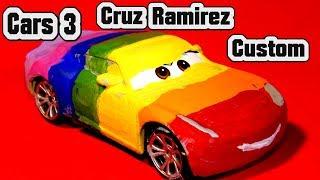 Cars 3 Custom Primer Cruz Ramirez, Rainbow Cruz Ramirez, Primer Lightning McQueen and Miss Fritter