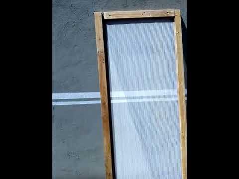 Tela de madeira anti mosquito para porta, janelas etc.
