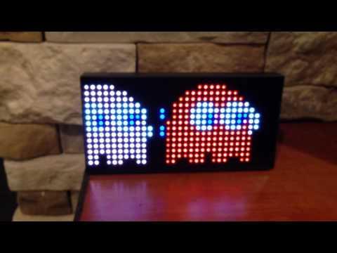 PACMAN LED Clock
