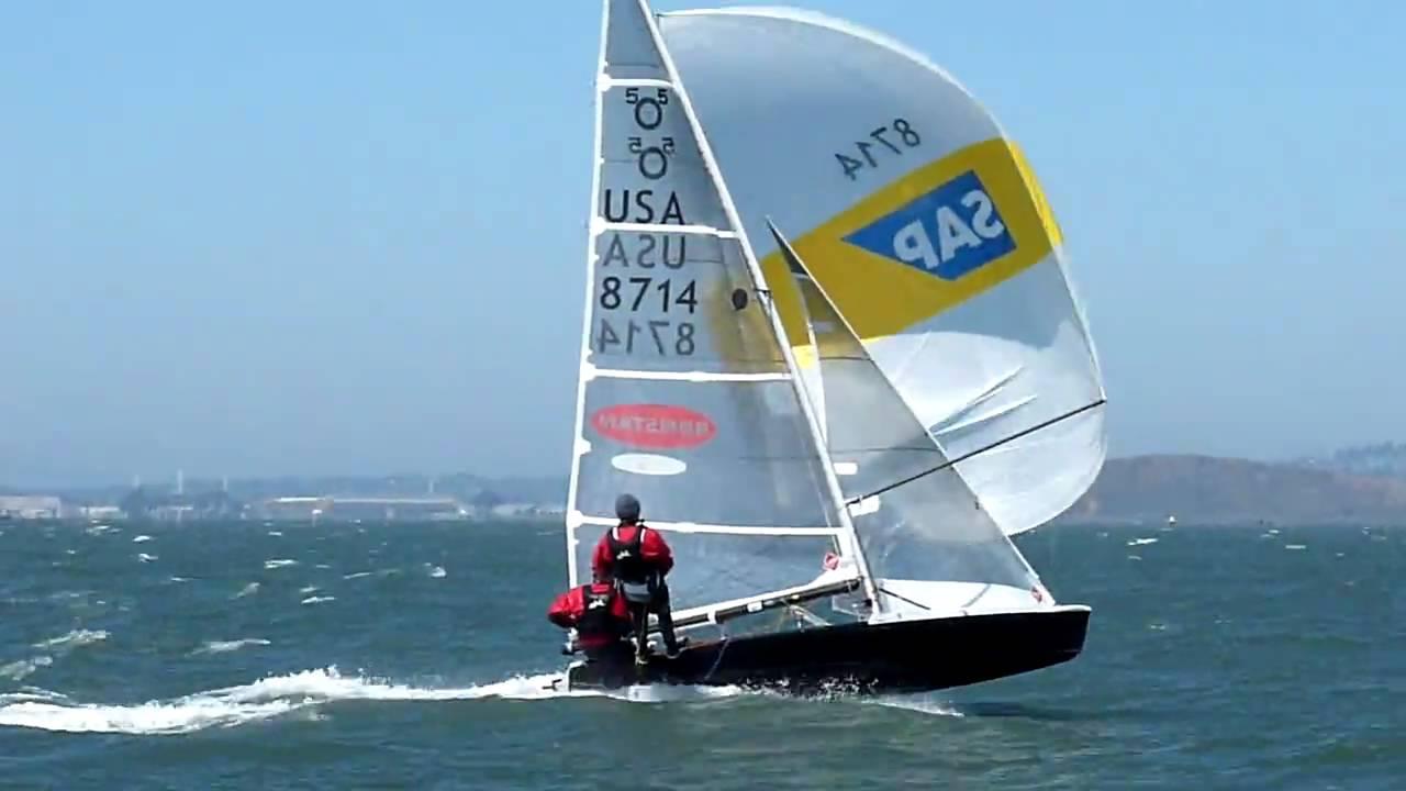 SAP 505 World Championship 2009 Race 5 Jibe Mark YouTube