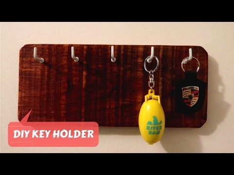 DIY WOODEN KEY HOLDER FROM SCRATCH