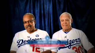 Tommy Davis and Maury Wills - Dodgers Old-Timers!