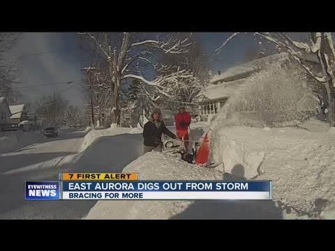 Snow Storm Recovery In East Aurora