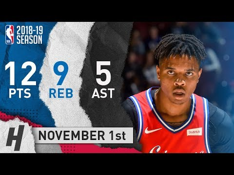 Markelle Fultz Full Highlights 76ers vs Clippers 2018.11.01 - 12 Pts, 5 Ast, 9 Rebounds!
