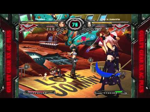 Guilty Gear Accent Core Plus - Strafefire (Jam) vs. misa is awesome (Testament)