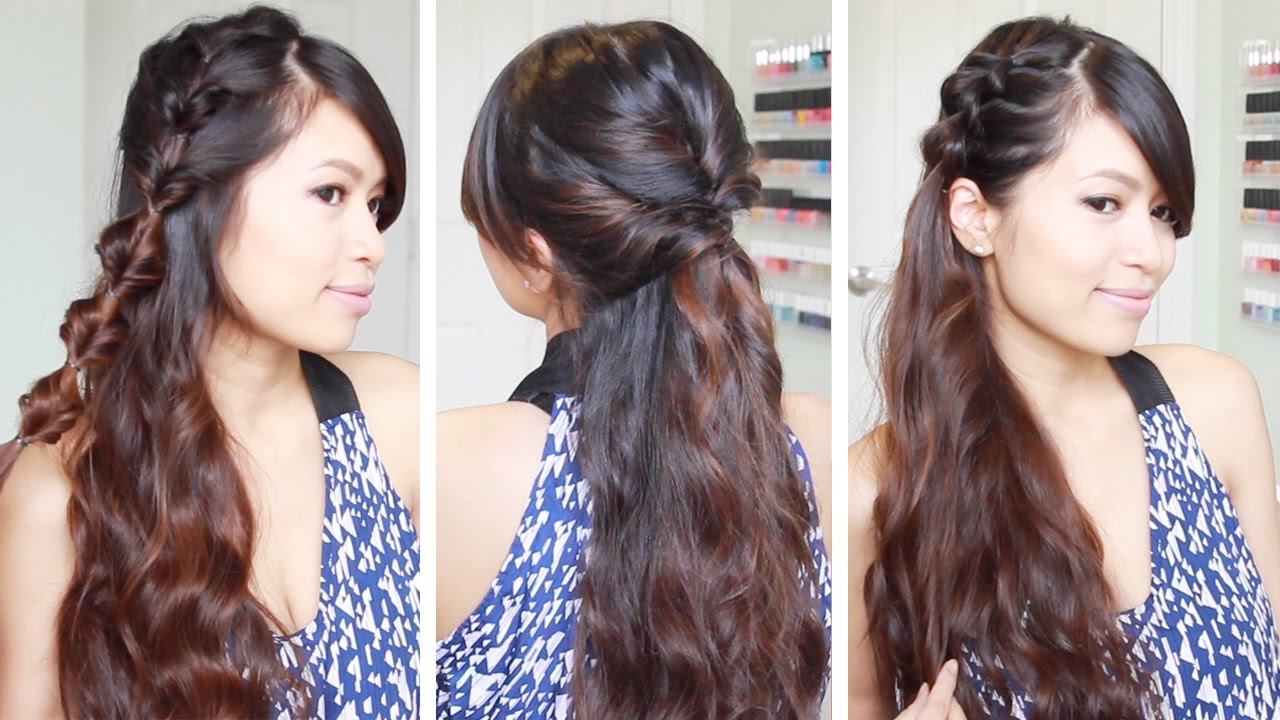 3 quick & easy faux braids hairstyles