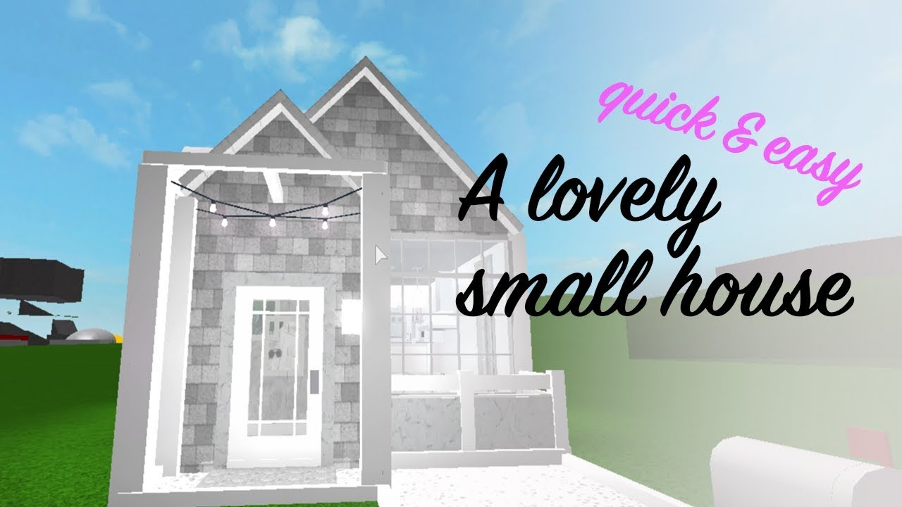 Bloxburg A Lovely Small House Quick And Easy Youtube