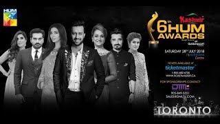 Kashmir 6th HUM AWARDS 2018 | Mahira Khan | Atif Aslam | Taking Pakistan to the world