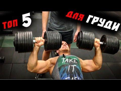 ТОП 5 ЛУЧШИХ УПРАЖНЕНИЙ для ГРУДНЫХ мышц !!!