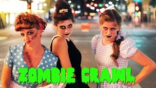 ZOMBIE CHICKS DO THE RENO ZOMBIE CRAWL!