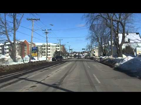 Driving Riverview and Downtown Moncton, New Brunswick [WINTER]