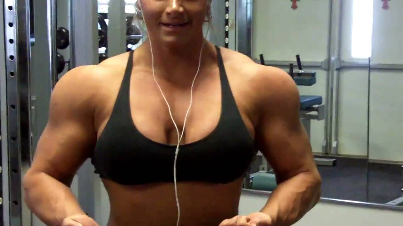 Naked female bodybuilder muscle lesbians in the gym 9