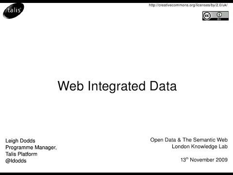 Web Integrated Data (Bathcamp, 7 April 2010)