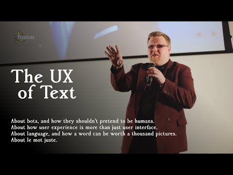 The UX Of Text: Stuart Langridge