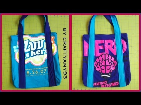 Diy t shirts recon to tote bag youtube for T shirt tote bag