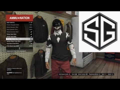 GTA 5 Online Best T-shirt Glitch Cool Invisible No Arms Modded Outfit (SG)