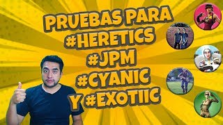 Pruebas para #Heretics #JPM #Cyanic y #ExoTiic| Fortnite Battle Royale |