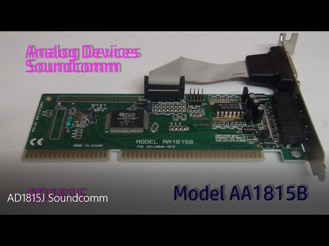 ANALOG DEVICES AD1815 WINDOWS 10 DRIVER DOWNLOAD