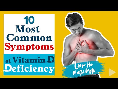 10 most common symptoms of vitamin d deficiency in adults