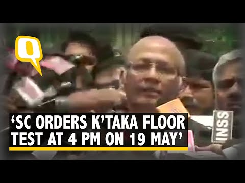 SC Orders Karnataka Floor Test at 4 PM on 19 May