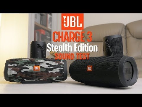 JBL Charge 3 Stealth Edition vs JBL Charge 3 - sound comparison HQ
