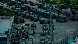 Chinese military continues amassing at Hong Kong border