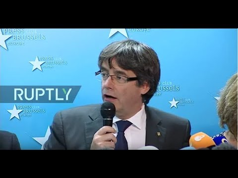 LIVE: Puigdemont holds press conference in Brussels