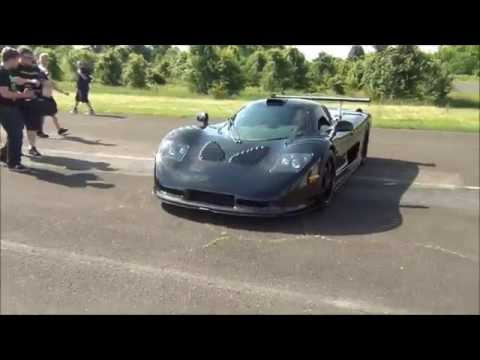 Saleen S7 / Raptor GTR / Bugatti / Arriving At CF Charities SCW  2014
