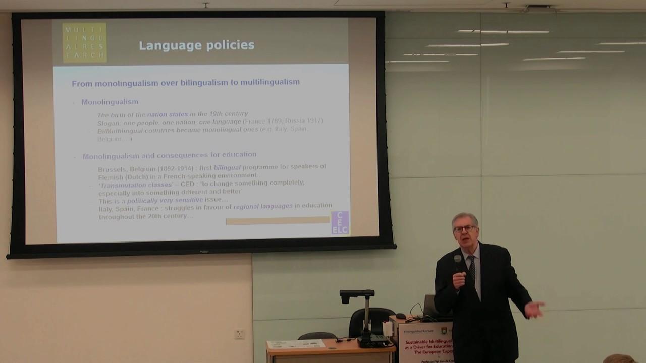 Distinguished Lecture by Professor Piet Van de Craen (Faculty of Education,  HKU)