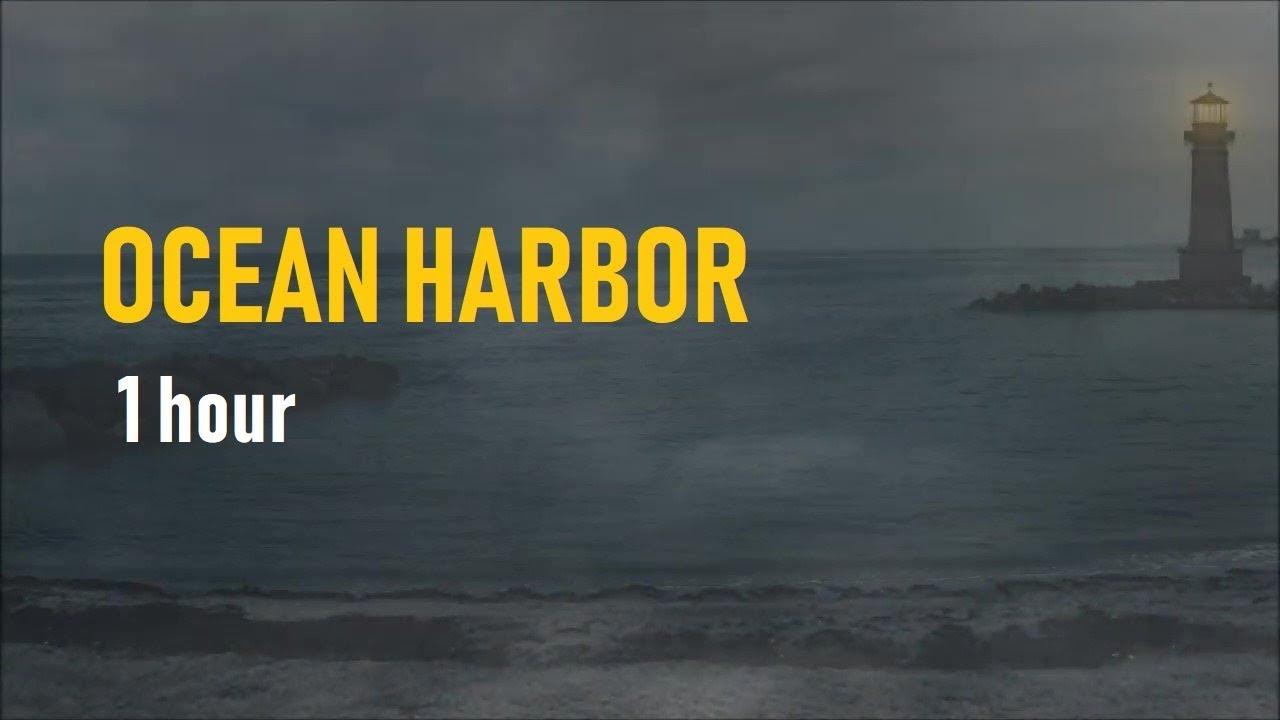 Ocean Harbor Thunderstorm - 1 Hour Rain, Waves Thunder