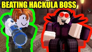 DEFEATING HACKULA BOSS in Roblox Arsenal