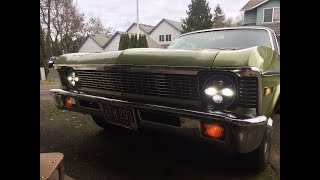 Morimoto LED headlight install in the 1971 Nova