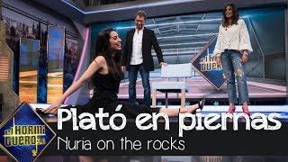 Almudena Cid mide el plató de 'El Hormiguero 3.0' con sus piernas