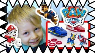 Paw Patrol Toy Unboxing - Sea Patrol Chase and Marshall Rescue Jet Skis on Adventure Bay!