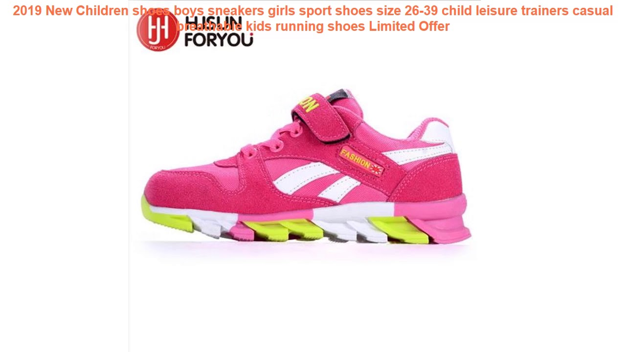 New Spring Toddler Girls Casual Shoes Kids Lights Sports Shoes Size 5-11