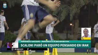 La previa del enfrentamiento entre la Selección Argentina ante Irak