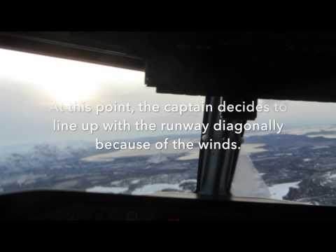 Widerøe Flight 958- Tromsø-Lakselv Cockpit wiew (takeoff and landing)