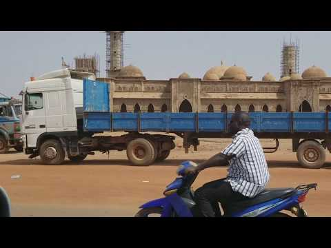 Riding down the streets in Ouagadougou, Burkina Faso