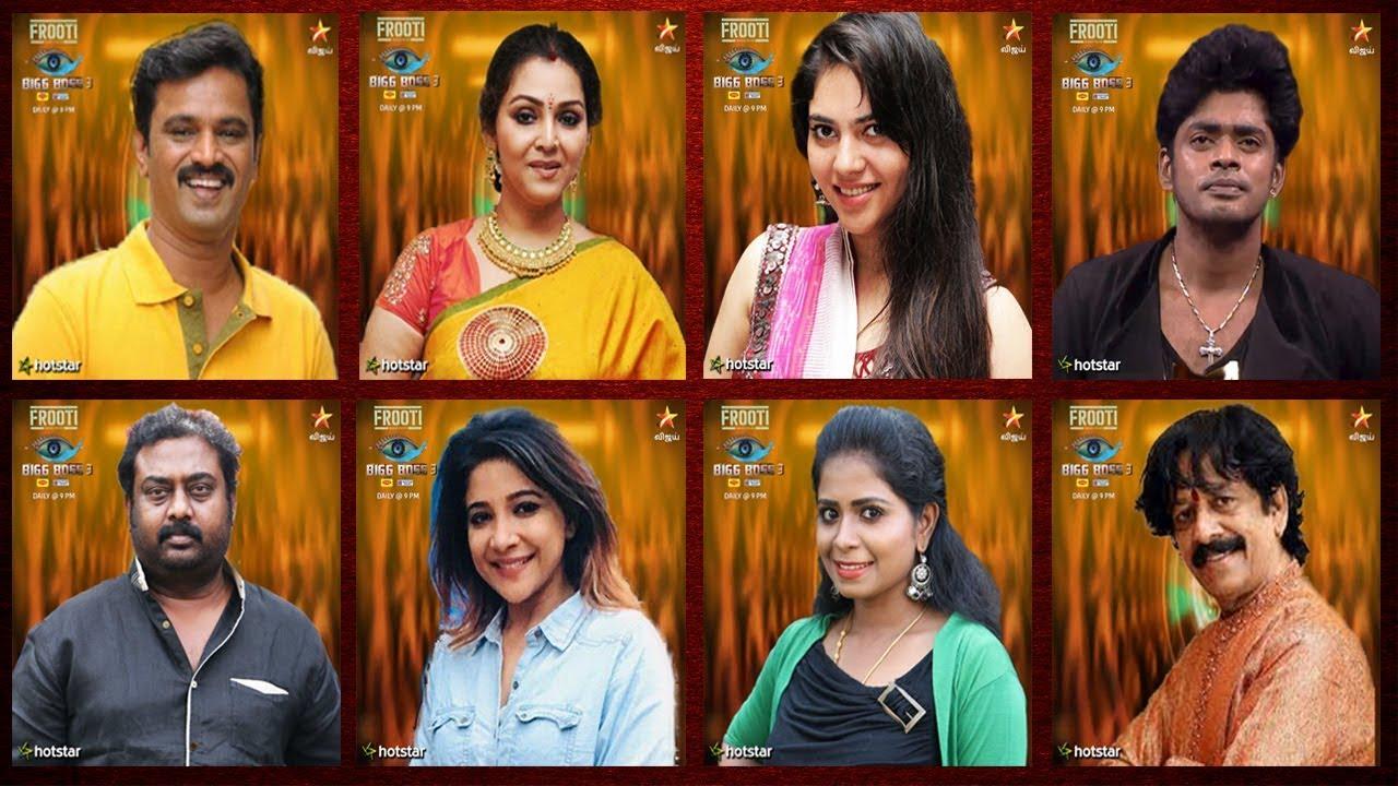 BIGG BOSS 3 TAMIL – Full LIst Of Contestants | Bigg Boss 3 | Fathima Babu ,  Cheran | Day 1