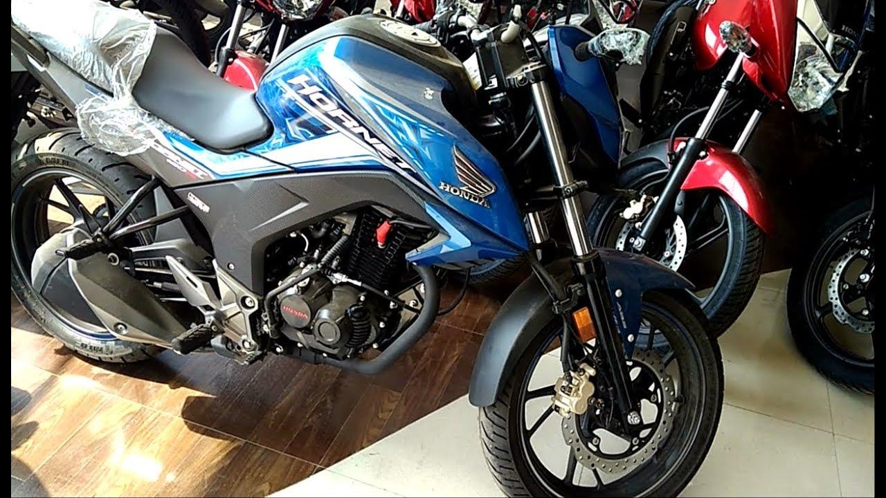 Cbr Honda Bike >> Honda Hornet Special Edition ABS BSIV 160R Blue 2018 LED SYSTEM Review //Ex-Showroom Price ...