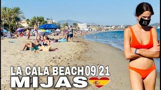 LA CALA DE MIJAS SPAIN BEACH WALK IN SEPTEMBER 2021, Latest Summer Beach Walk Updates 2021 [4K]