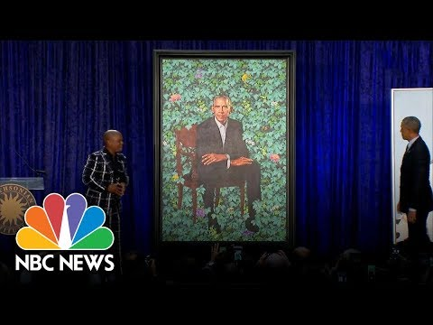 Watch As The Obamas' Official Portraits Are Unveiled At The Smithsonian | NBC News