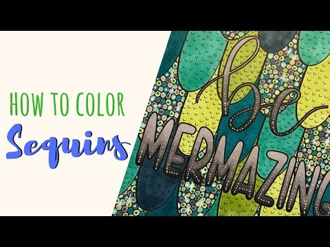 Coloring Sequins For Mermaid Scales