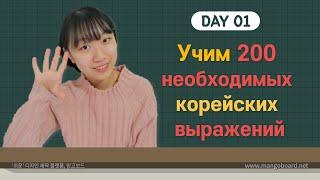 1 день -Учим с Чериш 200 необходимых корейских выражений 한국어 200문장 외우고 왕초보 탈출하기 1