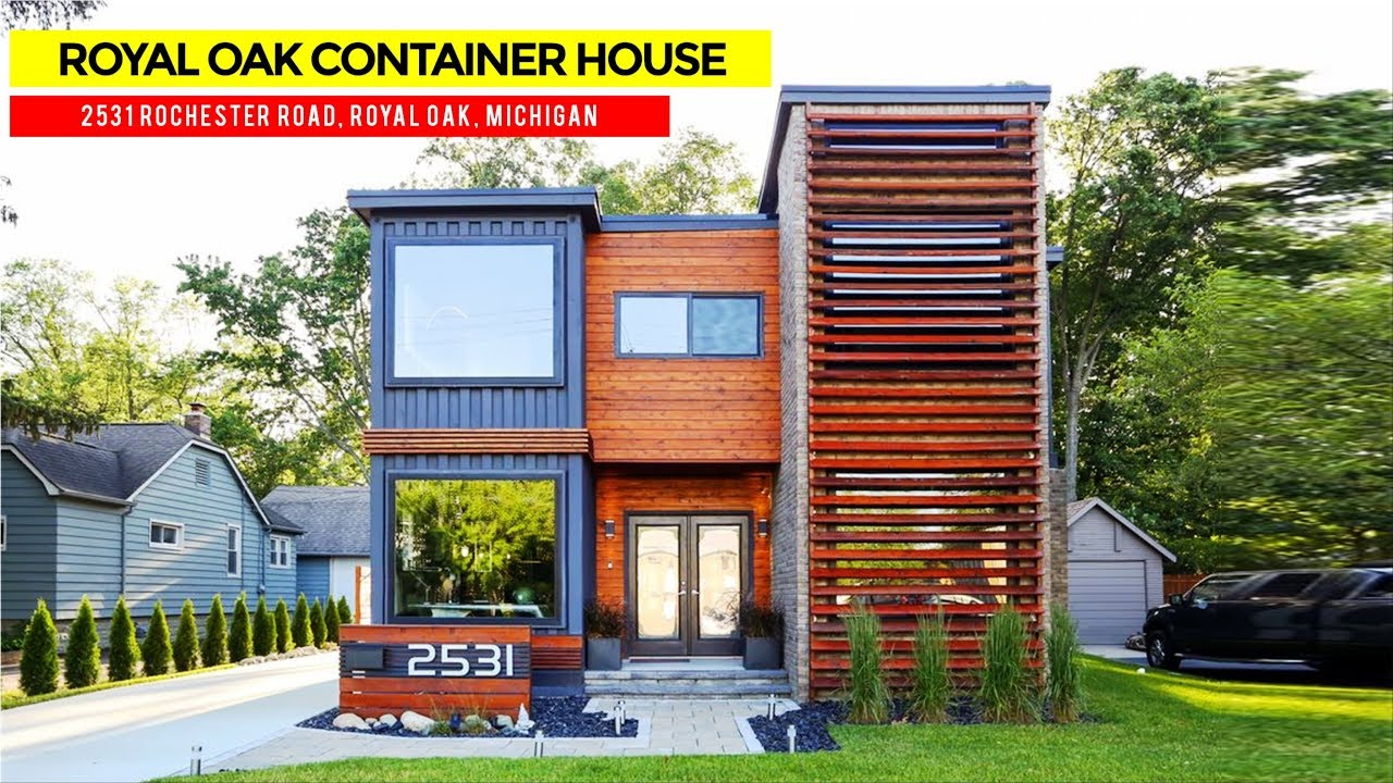 royal oak  430k shipping container house