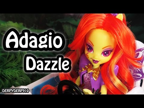 MLP The Dazzlings 3: Singing Adagio Dazzle Equestria Girls My Little Pony Toy Review/Parody/Spoof