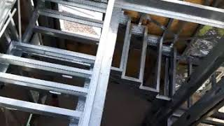 Escalera de steel framing