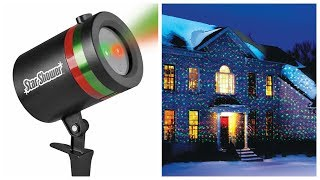 Лазерный проектор Star Shower для улицы и дома обзор ⭐ Новогодний звездный проектор купить