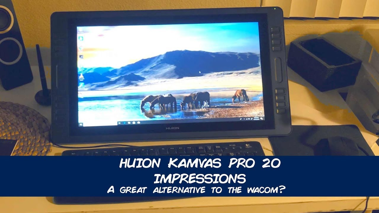 HUION Kamvas Pro 20 Impressions and Thoughts